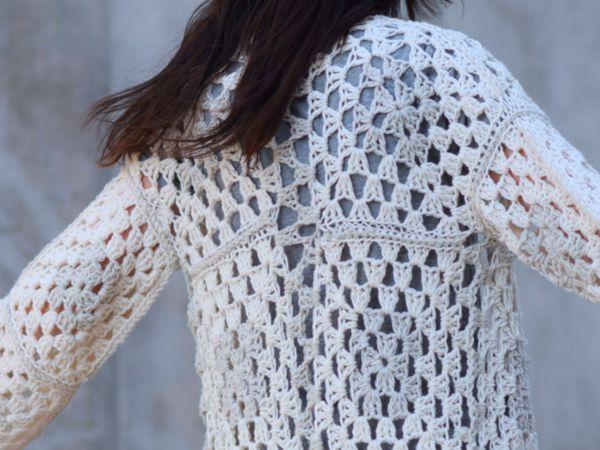 Arlo Granny Square Crocheted Cardigan