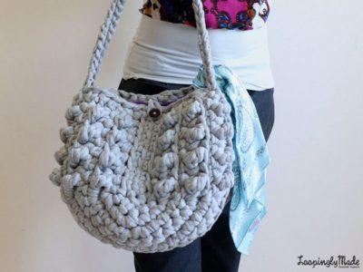 chunky t-shirt crochet tote