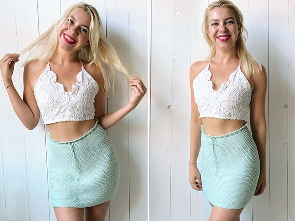 Reversible Crochet Skirt