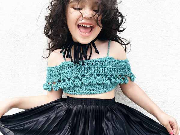 TODDLER PomPom Crop Top