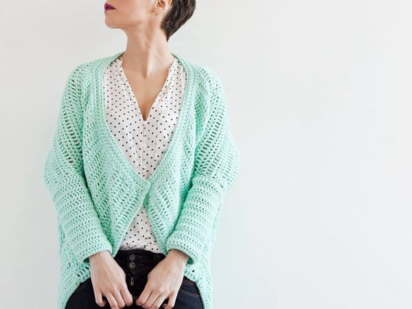 Mint Kimono Jacket Crochet PDF Pattern