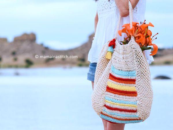 Caribe Big Crocheted Bag