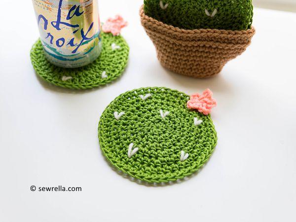 Crochet Cactus Coasters