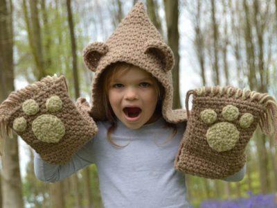 The Bramble Bear Hooded Scarf