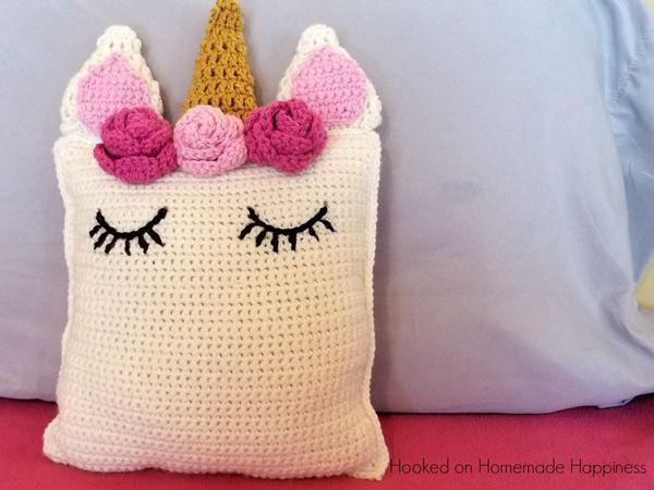 Crochet Unicorn Pillow