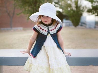 Sweet Heart Crochet Sweater