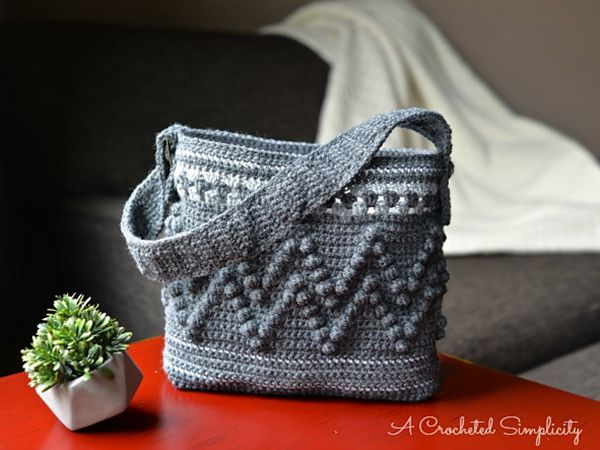 Chevron Bobble Tote Bag