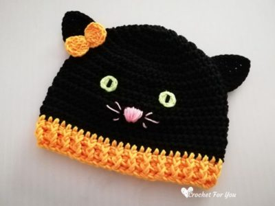 Halloween Black Cat Hat