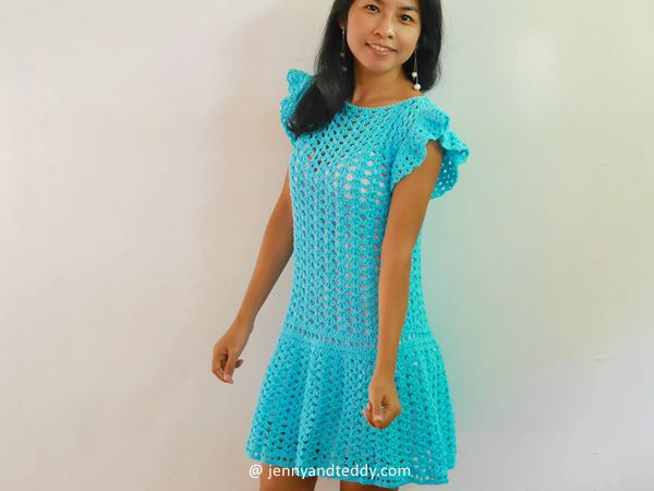 crochet Pretty Mini Dress free pattern