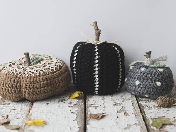 THREE Rustic & Elegant Pumpkins