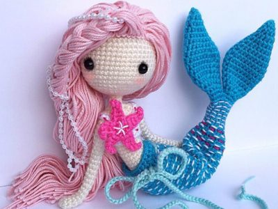 Crochet Doll Pattern Mermaid Ava