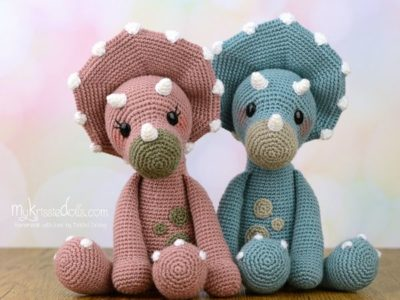 Crochet Pattern - Dinosaurs Tricia and Topsie
