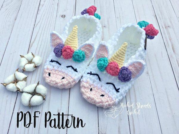 womens flower unicorn slippers