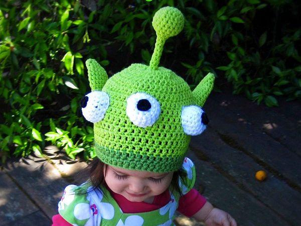 Little Green Monster Hat