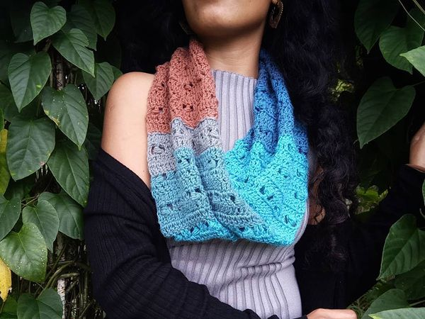 Forget Me Not Infinity Scarf