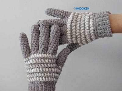 Cozy Striped Gloves