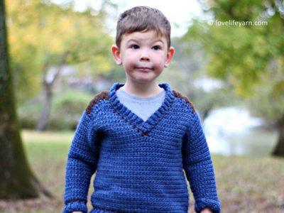 Kid's Saddle Shoulder Sweater