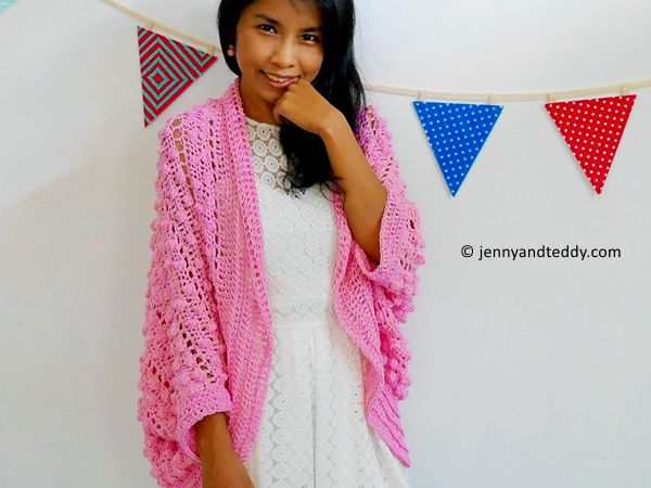 bubble gum blanket cardigan
