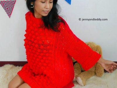 Bobble pop oversize sweater