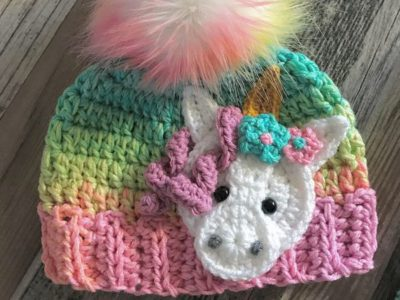 Crochet Moose Baby Beanie