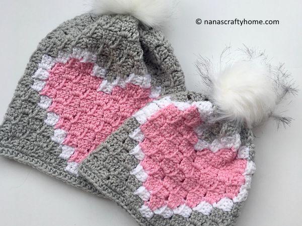 Heart C2C Hat
