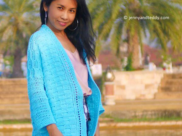 Blue Weave Cardigan