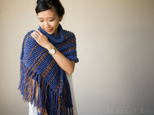 Two-Tone Scarf Wrap