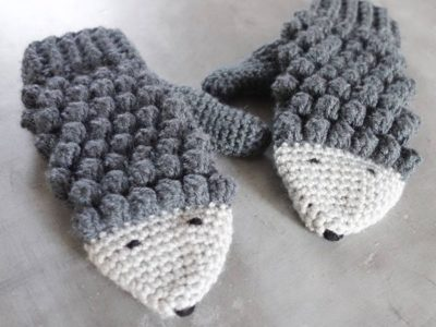 Crochet Hedgehog Mittens