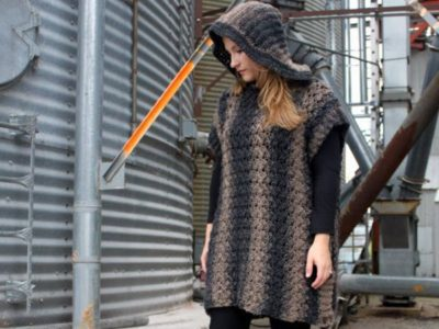 Hooded Poncho Crochet Pattern