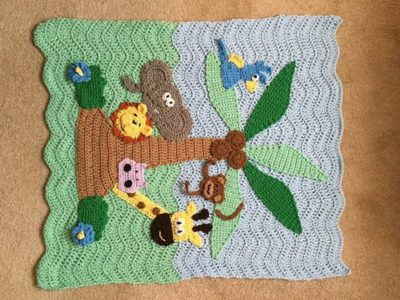 CROCHET PATTERN - Jungle Blanket