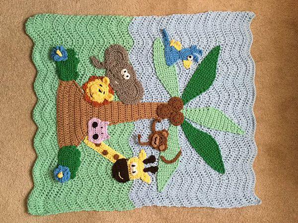 CROCHET PATTERN - Jungle Blanket