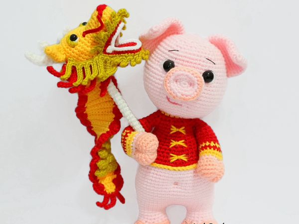 Prosperity Pig And Dragon Dance