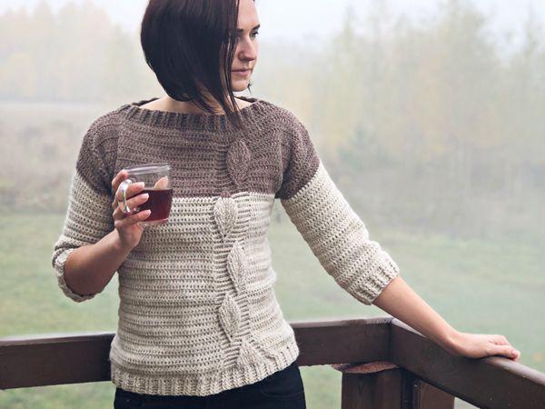 Crochet Leaf Sweater