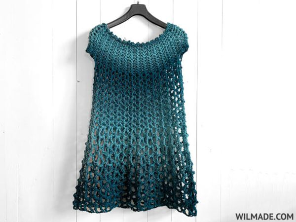 CROCHET PONCHO DRESS