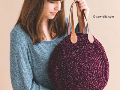 Crochet Velvet Tote Bag