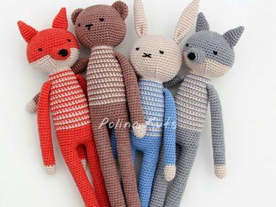 Rabbit, Bear, Fox, Wolf & Monkey