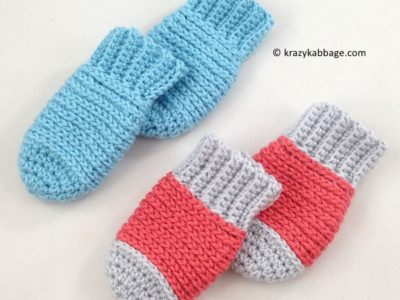 Ribbed Baby Mittens