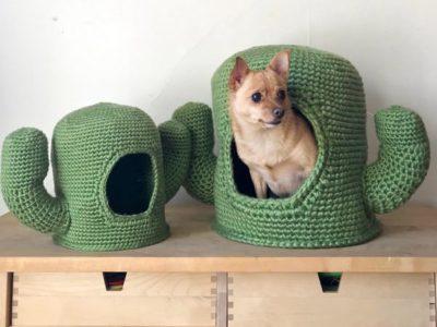 Mega Cactus Crochet Pet House