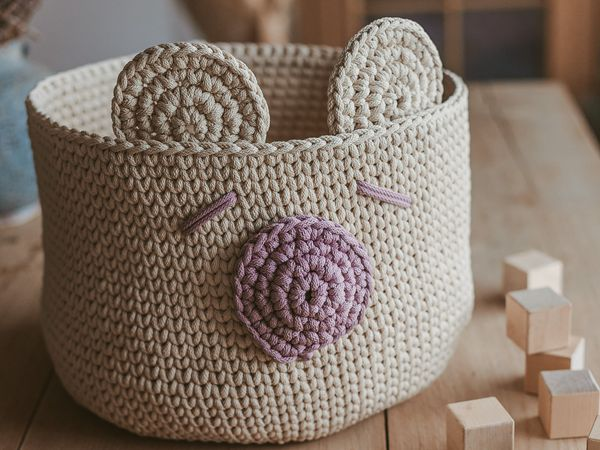 Crochet nursery basket