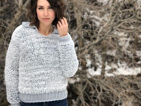 The Timber Pullover PDF DIGITAL DOWNLOAD Crochet Pattern, Women's cozy faux fur pullover crochet sweater pattern, Go For Faux yarn pattern