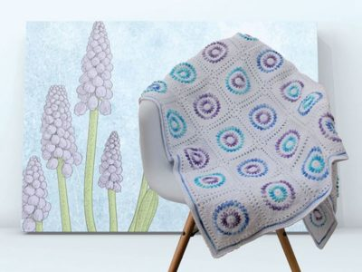 Grape Hyacinth Blanket