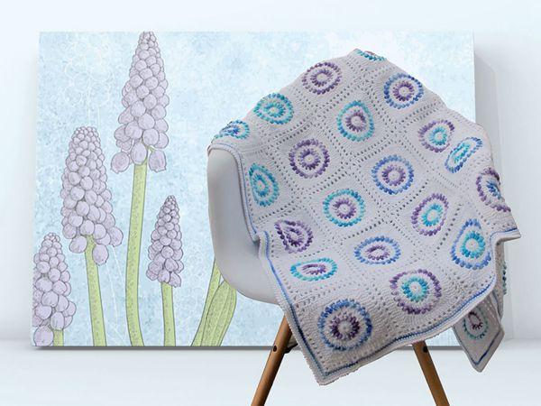 Grape Hyacinth Blanket