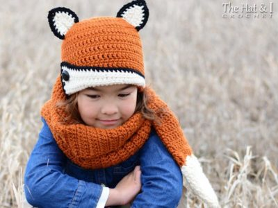 Fox Fancy - fox hat & scarf