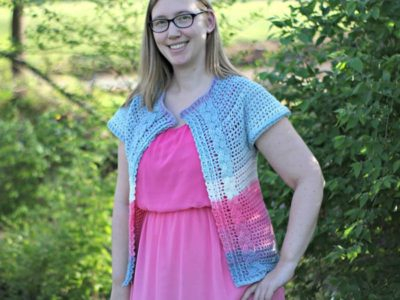 Filet Cabled Cardigan