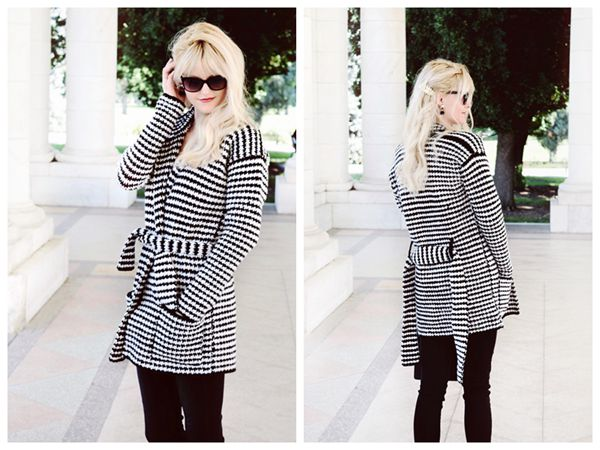 Crochet Houndstooth Coat