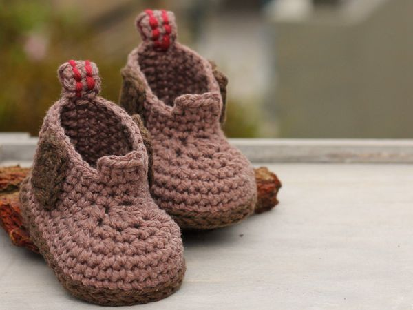 Baby Boys Crochet Boot Pattern