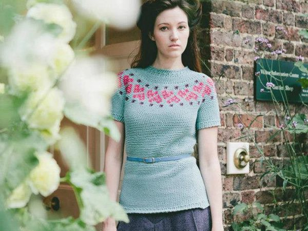 CROCHET Women's Sweetheart Sweater PATTERN