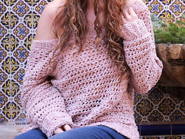 Crochet Kelby Sweater free pattern