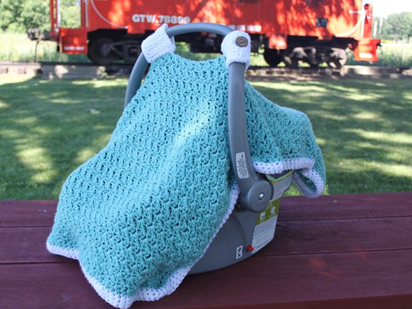 Crochet Pattern for Charleston Car Seat Cover free pattern