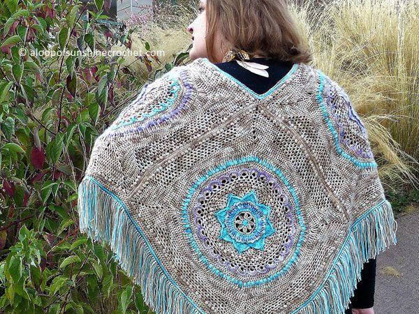 Free Spirit Poncho crochet pattern